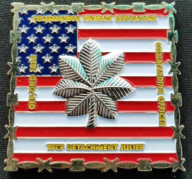 US NAVCENT TFCF Det Juliet OIF/OND 2011 Commander's Coin back