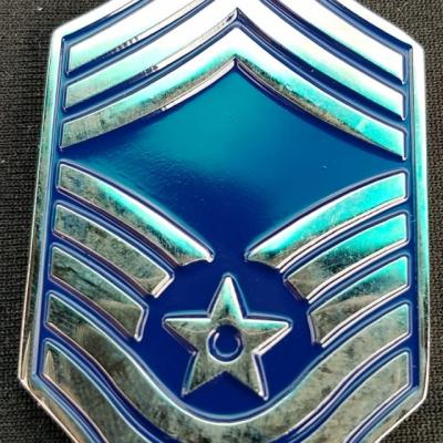 USAF Command Post Command Chief Chevron Shaped Custom Coin by Phoenix Challenge Coins