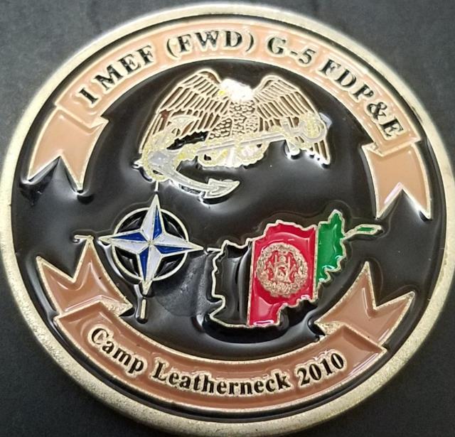 USMC IMEF FWD G5 FDP&E OEF Camp Leatherneck Challenge Coin