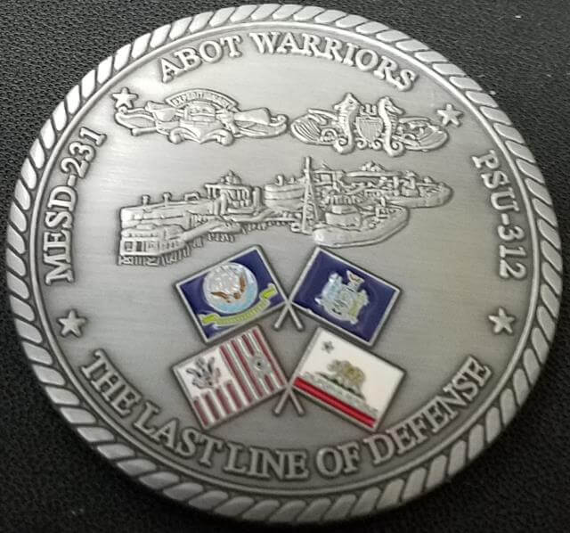 US Navy Maritime Expeditionary Security CTG 56.5 ABOT Challenge Coin back