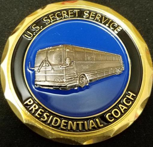 Real Authentic USSS US Secret Service PPD Transportation Protective Coach Heat Armor Coin by Phoenix Challenge Coins