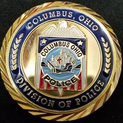 Real Authentic Columbus PD Chief Retirement Coin by Phoenix Challenge Coins front