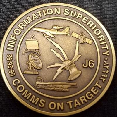 Operation Southern Watch JTF-SWA Joint Task Force South West Asia J6 Communications Commanders Coin back
