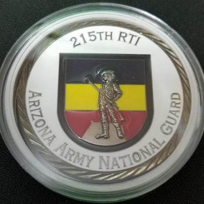 Arizona National Guard 215th RTI OCS Class 55-15 Challenge Coin