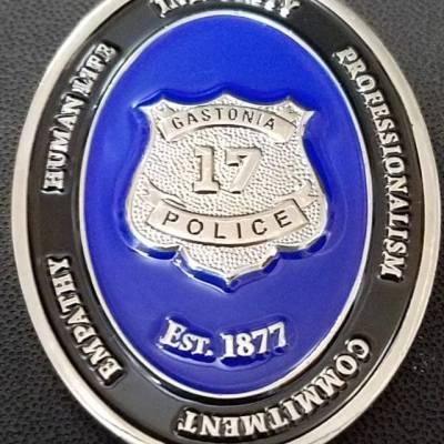 Gastonia North Carolina Police Dept Challenge Coin back