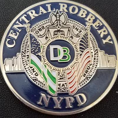 NYPD Detective Central Robbery Squad Challenge Coin