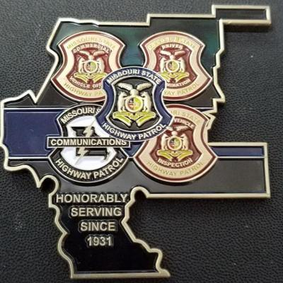 MSHP Missouri State Highway Patrol Troop E District AOR Challenge Coin