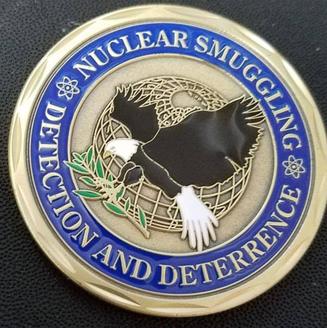 US Department of Energy Nuclear Smuggling Detection and Deterrence Custom  Challenge Coins