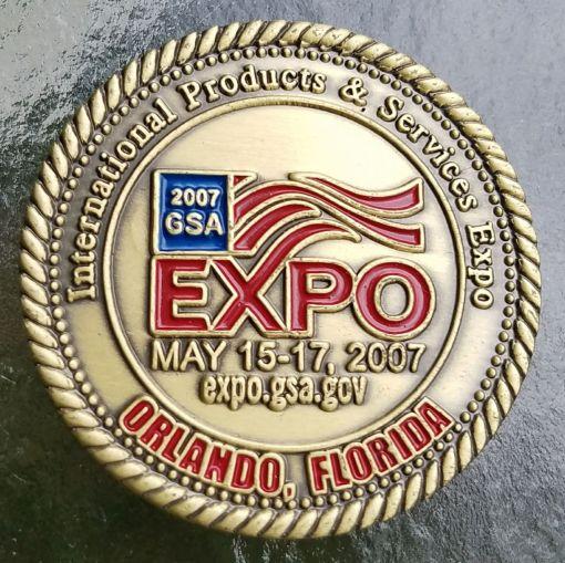 GSA Expo 2007 Challenge Coin back