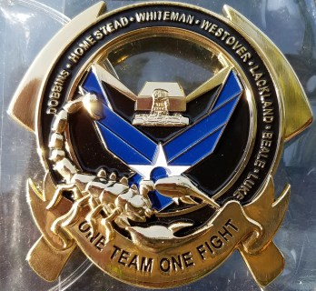 "USAF 386 ECES ASAB AMAB OIR Combat Deployment ""The Rock"" FF Custom Challenge Coin back"