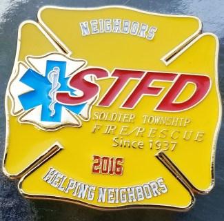 Soldier Township KS Fire Dept custom 2016 challenge coin