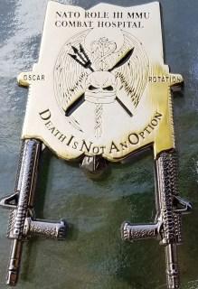 NATO Role 3 Hospital OEF Oscar rotation Bottle Opener coin back