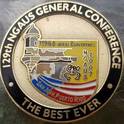 NGA National Guard Association San Juan 2007 Commanders Coin