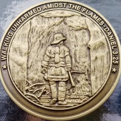 Hancock County Fire Academy IA Custom Coin back
