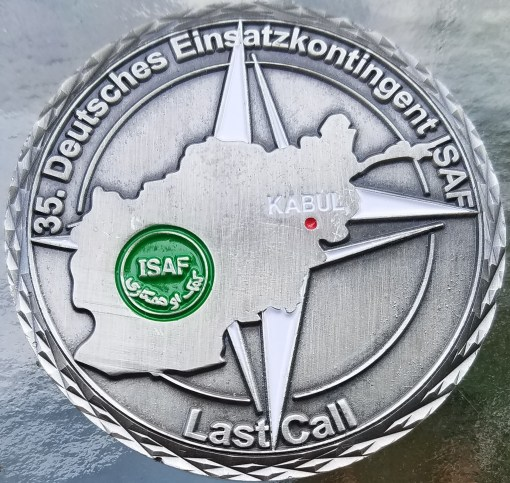 German Army 35 Deutches Einsatzkontingent Unterstutzungskompanie ISAF NATO Combat Deployment Commanders Challenge Coin back