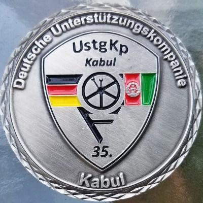 German Army 35 Deutches Einsatzkontingent Unterstutzungskompanie ISAF NATO Combat Deployment Commanders Challenge Coin