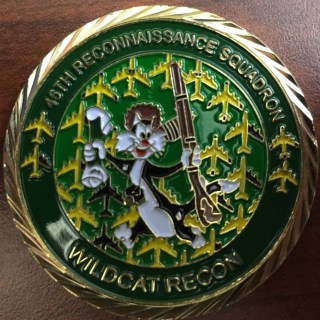 USAF 45th RS 45th Reconnaissance Squadron Commander's coin Wild Cats In God we trust all others we monitor Custom Challenge Coin