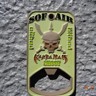 USAF AFSOC SOF AIR CJSOAC 4th SOS Deployment Bottle Opener Featuring Phoenix Challenge Coins®Armor™