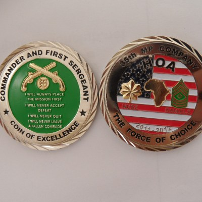 35th MP Co Command Team Coin OEF-TS HOA Deployment Challenge Coin