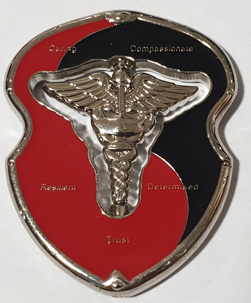 WAMC Womac Army Medical Center Ft Bragg Nursing Cutout spinner Custom Challenge Coin front