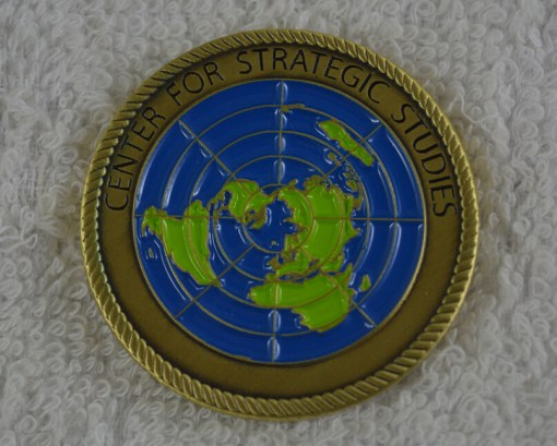 CNA Strategic studies custom coin back