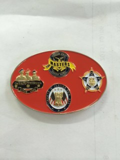 Badge of Honor Race Charity Challenge Coin back
