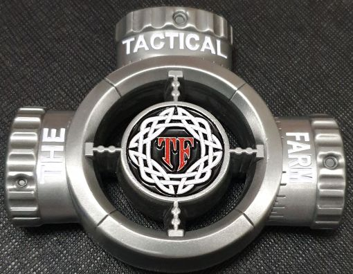 2018 Gastonia Police Sniper Conference The Tactical Farm training and events Scope shaped challenge coin back