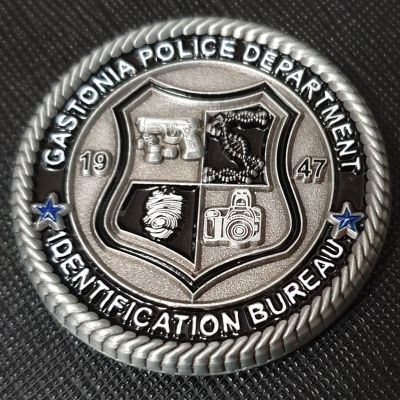 Gastonia Police Foundation coin ID Bureau Police Challenge Coin