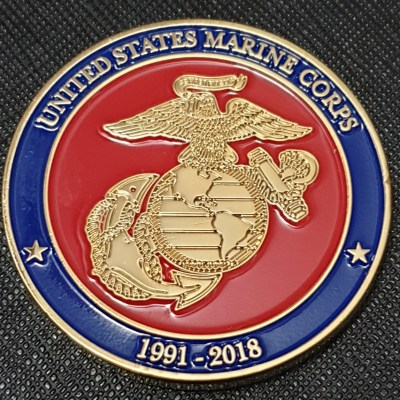 MGYSGT Jeffery Fangman retirement challenge coin