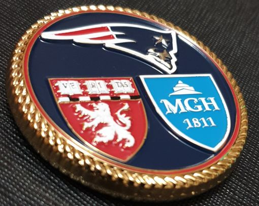 New England Patriots Cdr Mark Price Team Physician USN DET NEP Challenge Coin 3
