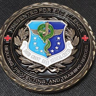 USAF 60th medical Group David Grant Medical Center commanders coin
