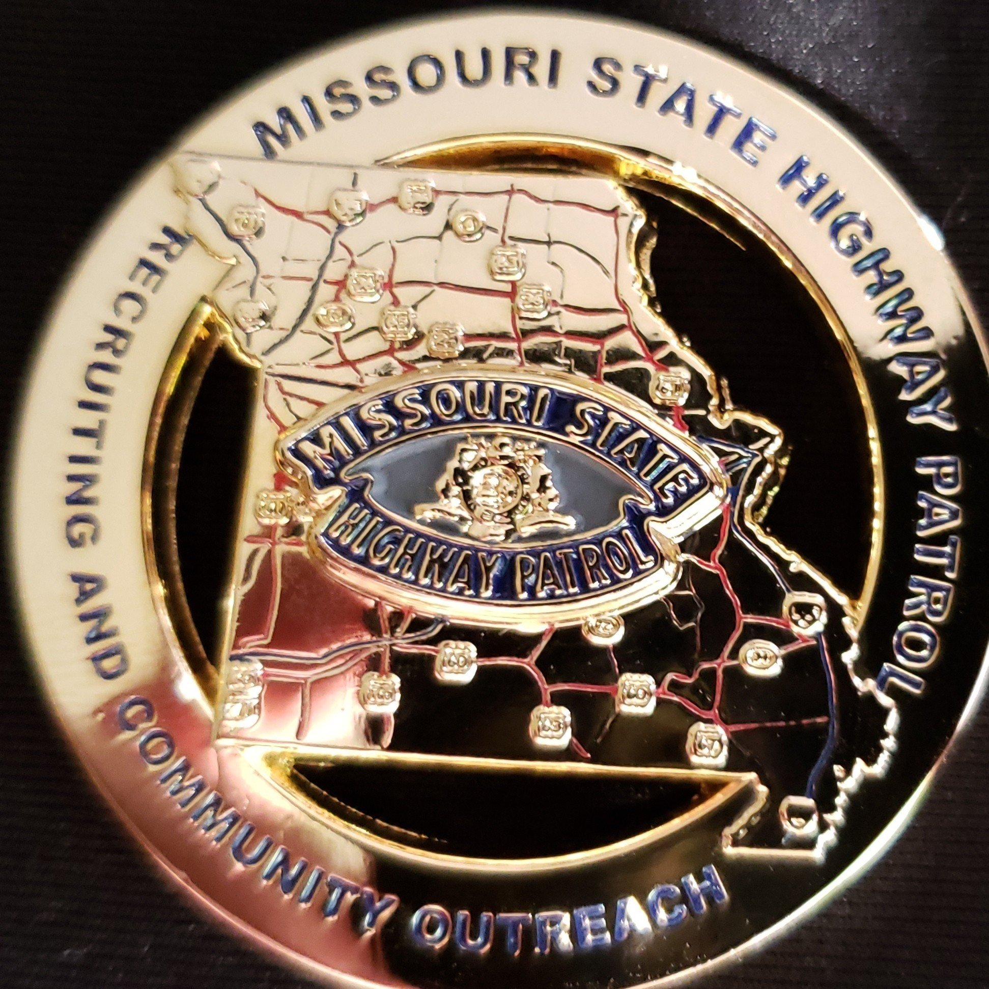 Missouri State Highway Patrol Recruiting and Community Outreach Custom  Challenge Coin - Phoenix Challenge Coins