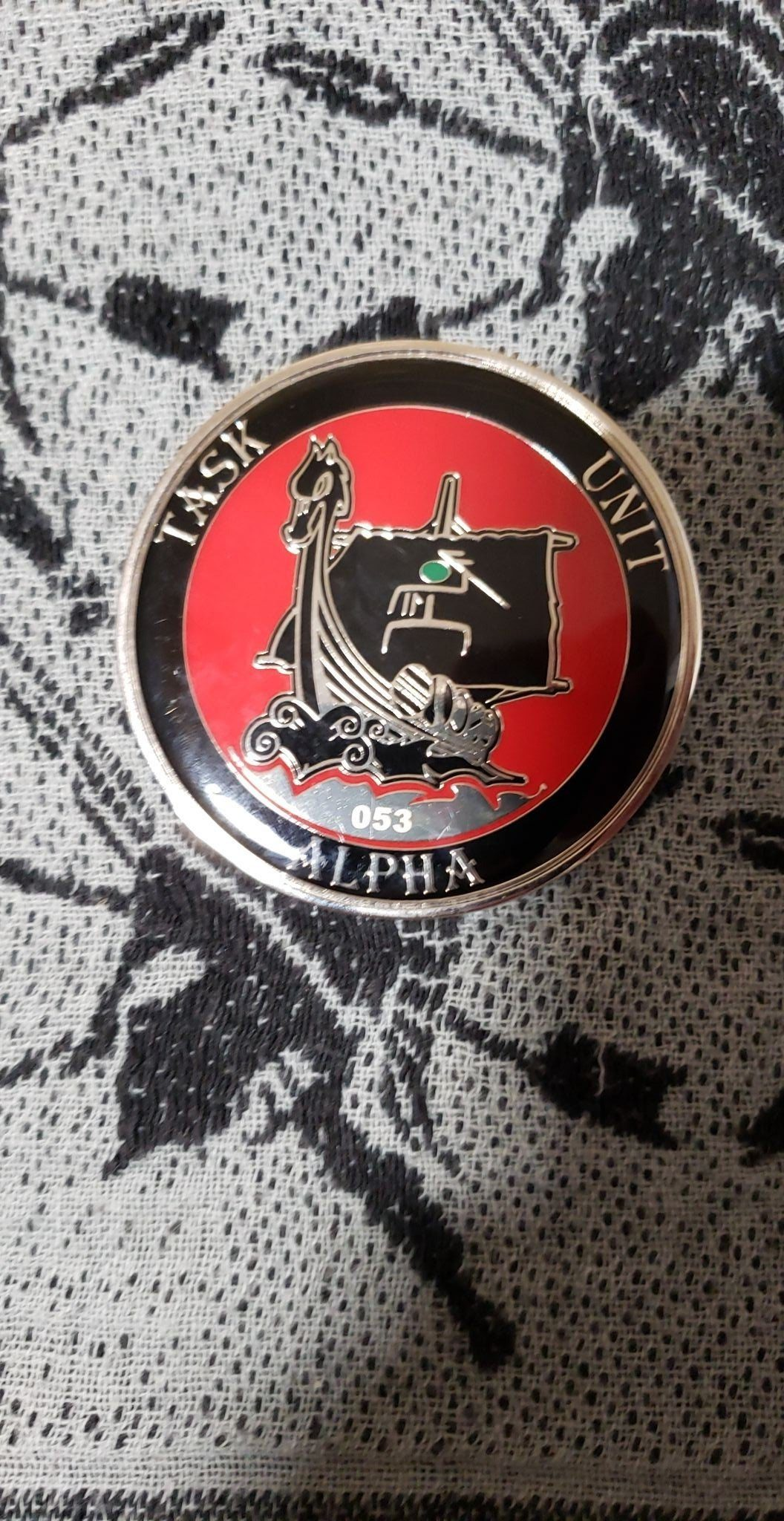 Seal Delivery Vehicle Team One SDVT-1 Task Unit Alpha Large Numbered 53  Authentic Rare Seal Team Challenge Coin
