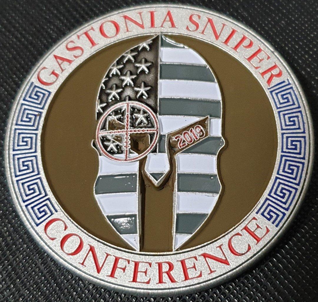 2019 Gastonia Sniper Conference Custom Challenge Coin