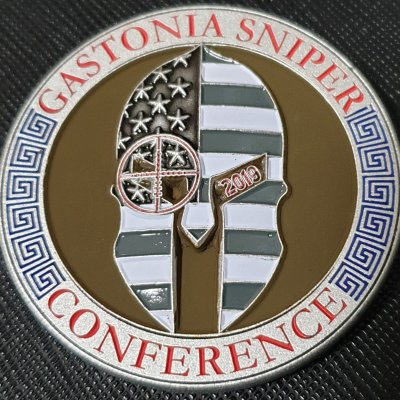 2019 Gastonia Sniper Conference Custom Challenge Coin