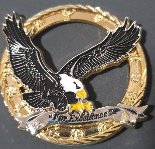 US Army 4-101st Aviation Regiment Command Team Cutout Challenge Coin made by Phoenix Challenge Coins backside