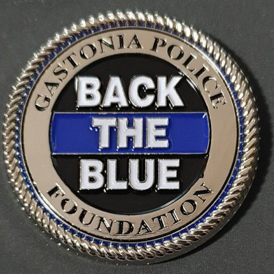 Gastonia Police Foundation Back the Blue Challenge Coin