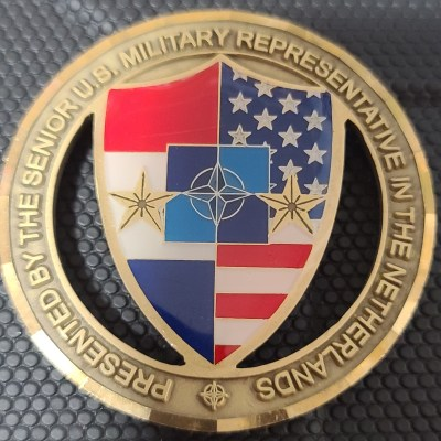US Senior Military Representative in the Netherlands Challenge Coin Coin #80