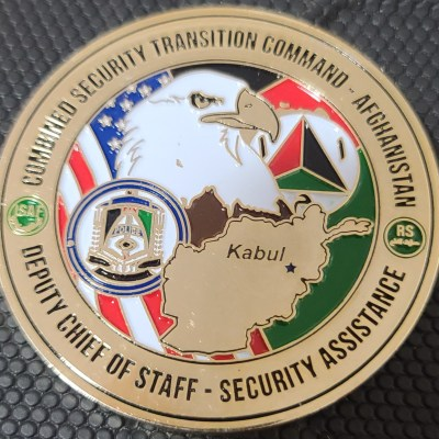 Combined Security Transition Command Afghanistan CTSC-A DCOS SA Deputy Chief of Staff Security Assistance Command team Challenge Coin back