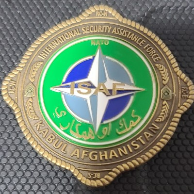 ISAF NATO USFOR-A CSM Iuniasolua T. Savusa Challenge Coin