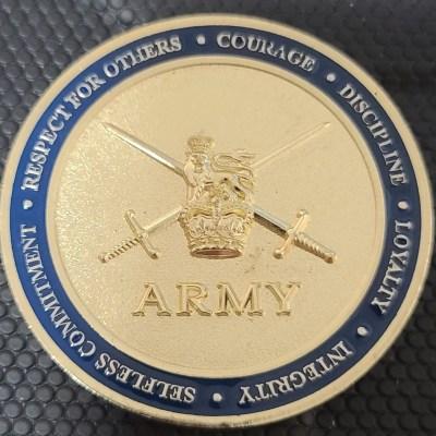 UK Army 45 Essex Brigade Challenge Coin