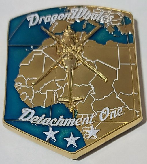 US Navy HSC-28 Det 1 Dragon Whales Kraken Squadron Challenge Coin made by Phoenix Challenge Coins back