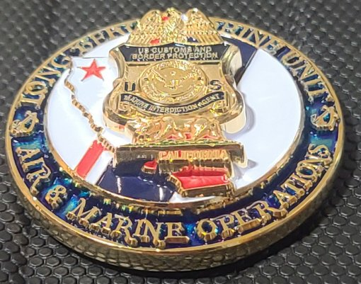 USCBP AMO US Customs and Border Patrol Air and Marine Operations Port of Long Beach CA Challenge Coin front 2