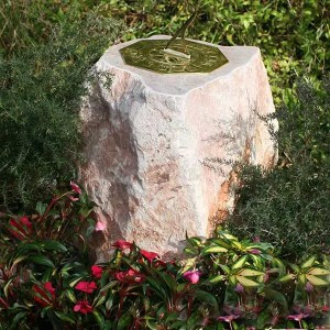Devon Memorial Sundial: Carved Boulder