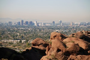 View of downtown Phoenix from Camelback Mountain