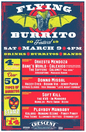 Image of a poster for the flying burrito festival