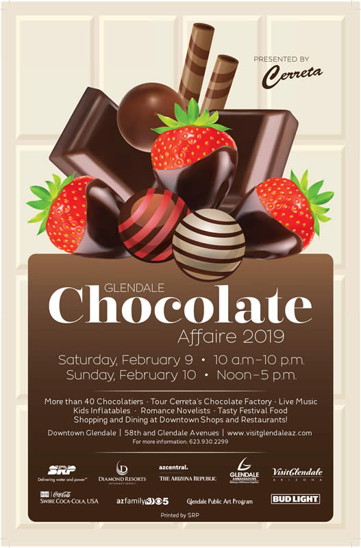 Poster of the Glendale Chocolate Affaire event