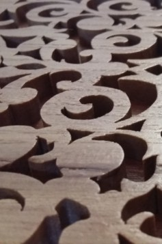 Close-up woodwork by Russell Ball