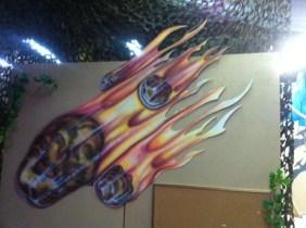Flaming metorites!