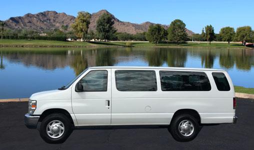 Large Passenger Van for rent in Phoenix Arizona